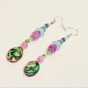 It's a Beautiful Life 🌸 Abalone Bluebell Earrings